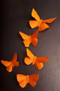 Orange Paper Butterflies