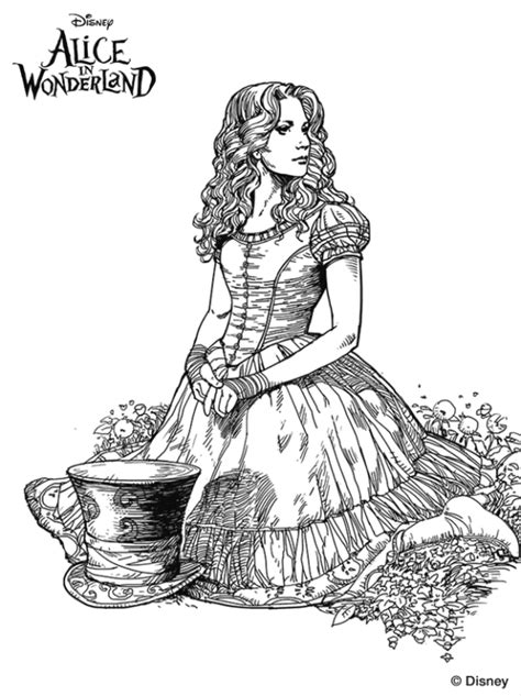 kids  funcouk  coloring pages  alice