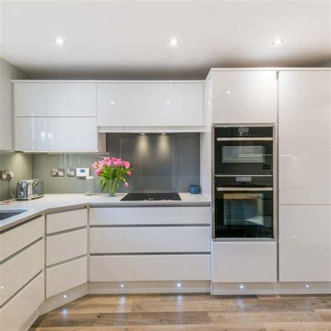 modern recessed handle kitchen