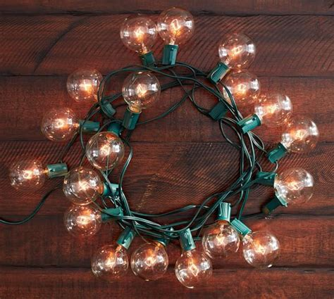 oversized globe string lights pottery barn
