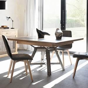 Pied De Table Metal Carré : table de repas carr e manufacture artcopi ~ Teatrodelosmanantiales.com Idées de Décoration