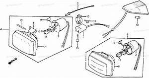 Honda Motorcycle 1985 Oem Parts Diagram For Headlight Unit
