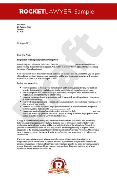suspension letter pending investigation letter