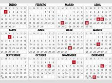 Calendario laboral 2019 País Vasco cinco puentes, doce