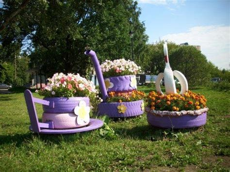 yard decorations 20 beautiful flower beds recycling old cars and tires
