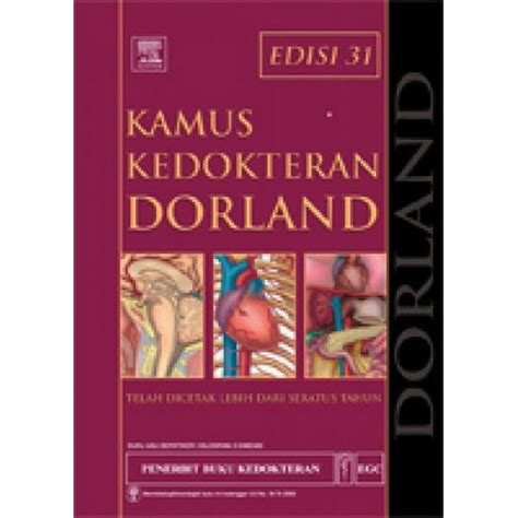 jual beli buku kamus kedokteran dorland edisi 31 egc