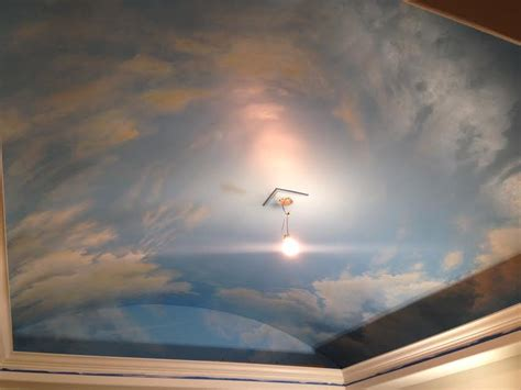 cloud ceiling murals  painted phrases paradise