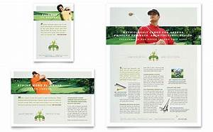 golf course instruction flyer ad template design With instruction leaflet template