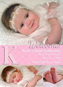 Birth Announcement Sample Baby Girl Birth Baby Photo Naptime Productions