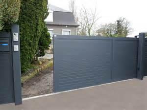 Portail Coulissant Motorisé 4m : auteuil portail aluminium sur mesure europortail ~ Dailycaller-alerts.com Idées de Décoration