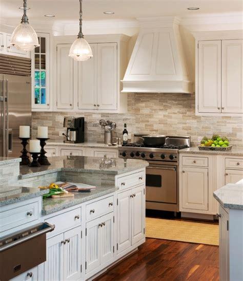 neutral backsplash kitchen pinterest