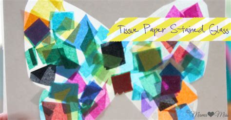 Tissue Paper Stained Glass  Butterfly Mama♥miss