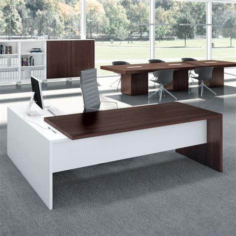 bureau verre design contemporain bureau direction retour sur console lemondedubureau