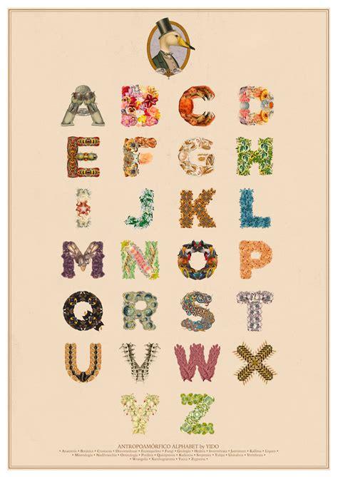 antropoamorfico alphabet  days  type typography