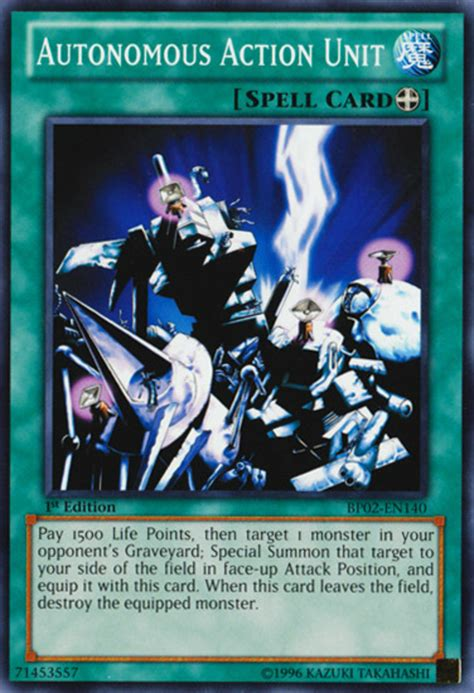 action unit yugioh equip card autonomous cards spells yu gi oh spell monster isolde send duel effect link let continuous