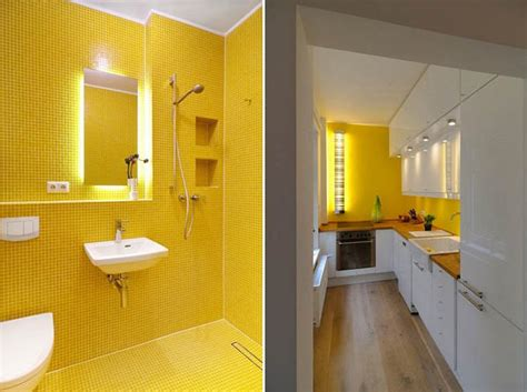Yellow Tile Bathroom Paint Colors by White Decorating With Yellow Color Accents Contemporary