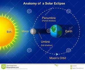 Solar Eclipse Diagram Stock Vector  Illustration Of Cosmos