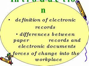 managing electronic information With electronic documents definition