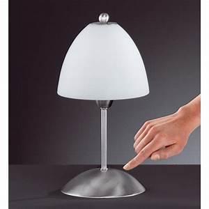 Lampe Mit Dimmer : trio leuchten tischleuchte luis nickel matt metall glas touch dimmer 595500106 smash ~ Markanthonyermac.com Haus und Dekorationen