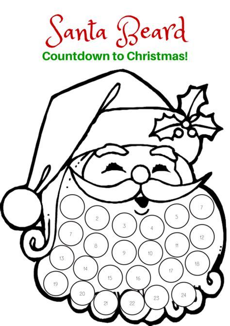 Deer Lollipop Cover Template Pdf by Countdown To Christmas Santa Beard Printable Holidays