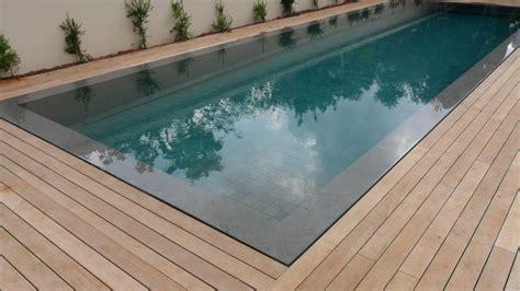 teak decking installation  swimming pool  hidden