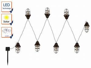 Led Lichterkette Draußen : led lichterkette mit 8 laternen ip44 solarbeleuchtung ~ Watch28wear.com Haus und Dekorationen