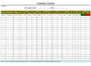Inventory Control Sheet Template Selimtd