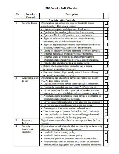 retail audit checklist templates