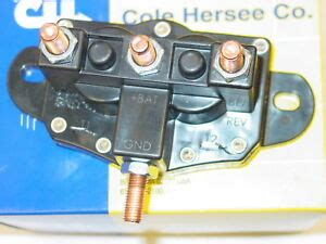 winch motor reversing solenoid relay switch cole hersee 24450