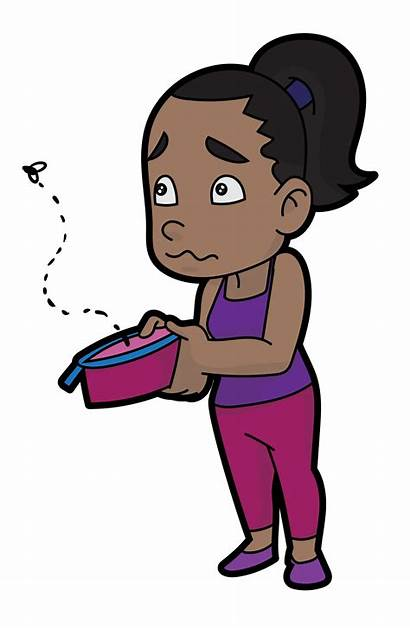 Cartoon Woman Empty Wallet Svg Looking Fly