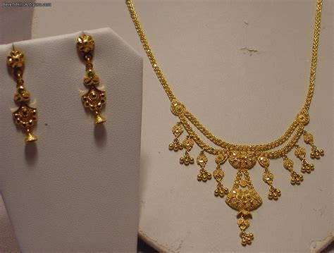 beautiful 22k gold necklace with matching earrings 22g for sale antiques com classifieds