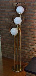 mid century atomic eames era ball floor lamp gold 3 way With retro ball floor lamp