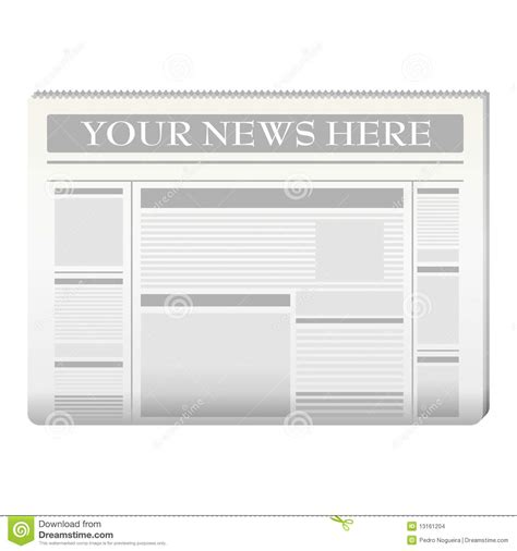 newspaper template stock vector illustration  diary