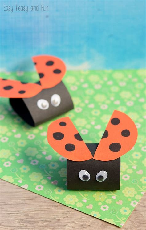 simple ladybug paper craft easy peasy  fun