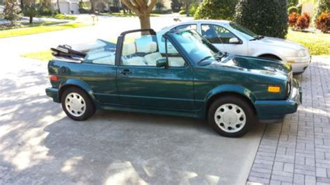 purchase used 1992 volkswagen cabriolet base convertible 2 door 1 8l 5 speed in lithia florida