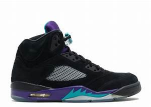 """air jordan 5 retro """"black grape"""" - black/new emerald-grape ..."""