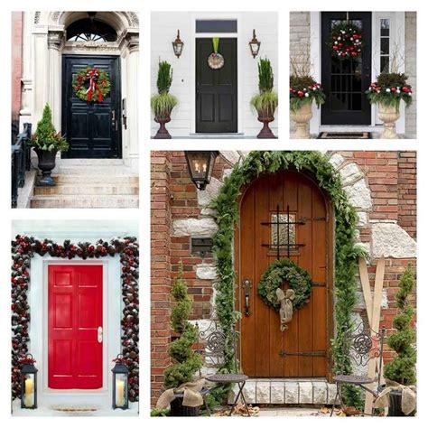 idees de decoration de porte dentree de noel