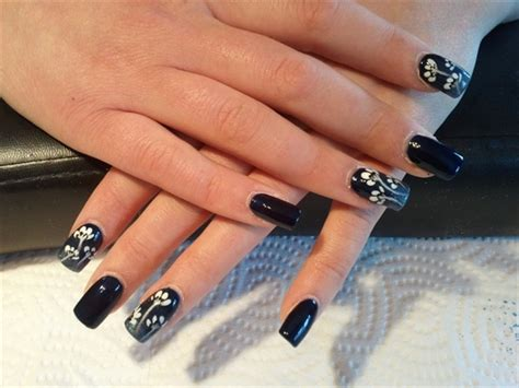 navy floral prom nails nail art gallery