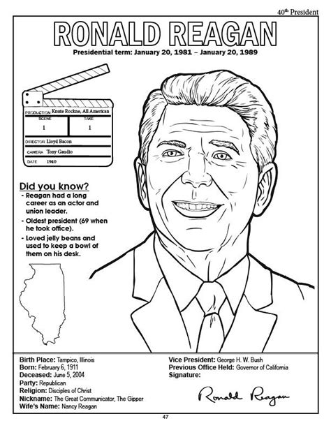 Presidents Coloring Pages by Coloring Pages Presidents Of The United States Coloring