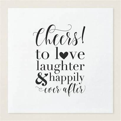 Bridal Shower Napkins Cheers Quotes Zazzle