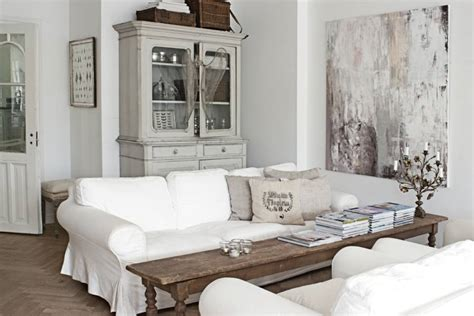 white and shabby scandinavian living country style chic scandinavian chic