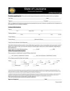 Louisiana Employment Application Forms