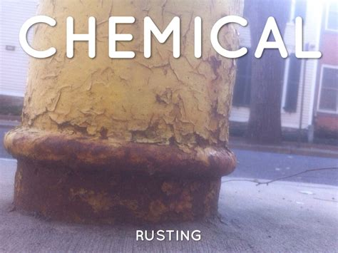 chemical physical rusting