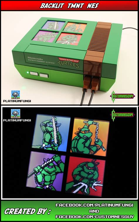 Custom Teenage Mutant Ninja Turtles Nes Heroes On A Console
