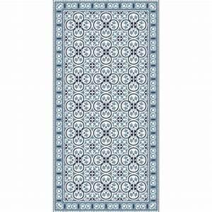 Tapis En Vinyle : tapis vinyle pinta bleu adama perlin paon paon ~ Teatrodelosmanantiales.com Idées de Décoration