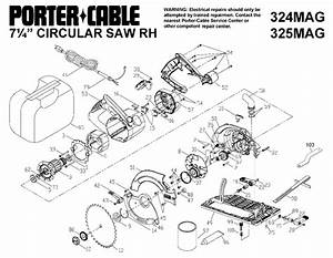 Porter Cable 324mag 7 25in 15a Circular Saw Parts  Type 1