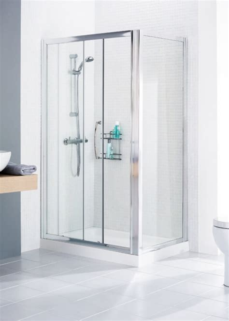 lakes classic silver   mm sliding door shower
