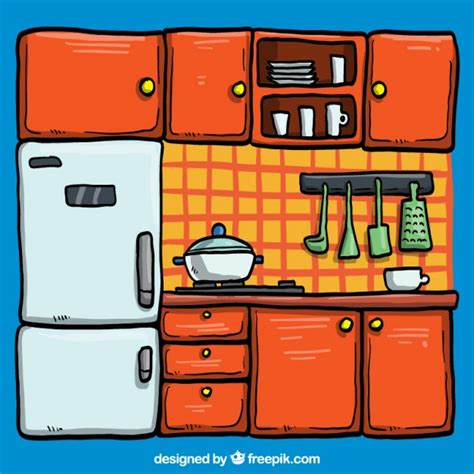 illustration cuisine kitchen illustration vector free