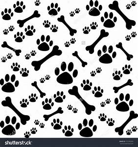 Background Dog Paw Print Bone Stock Vector Shutterstock ...