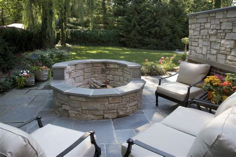 Patio With Fire Pit Shares Beautiful Awe With Personality